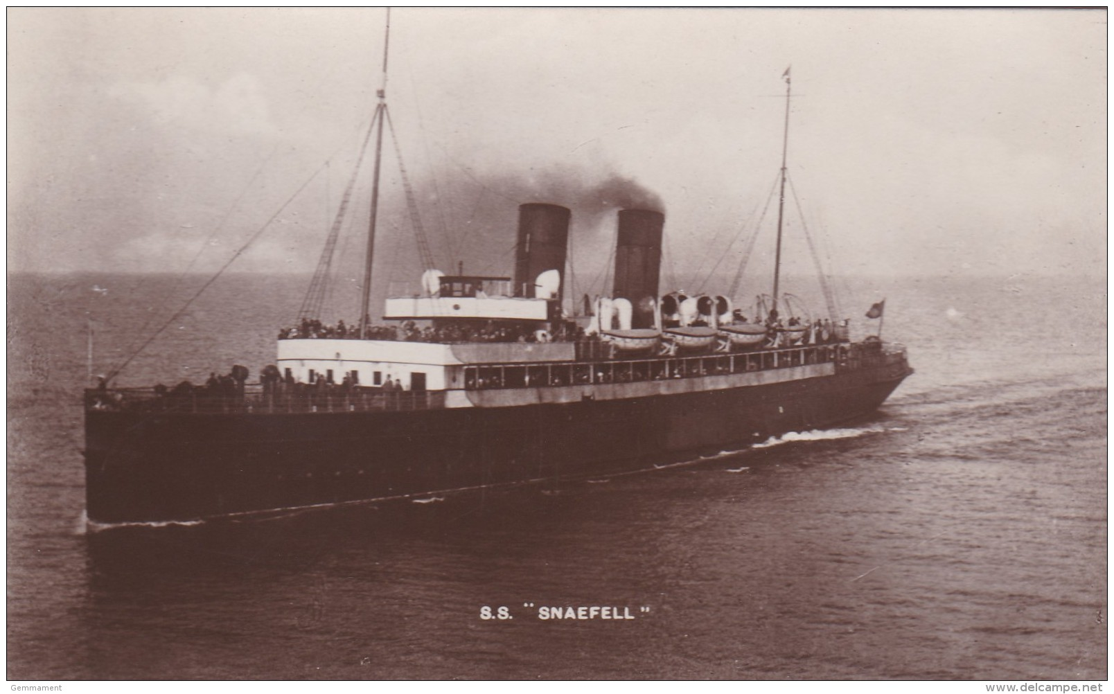 S.S. SNAEFELL - Paquebote
