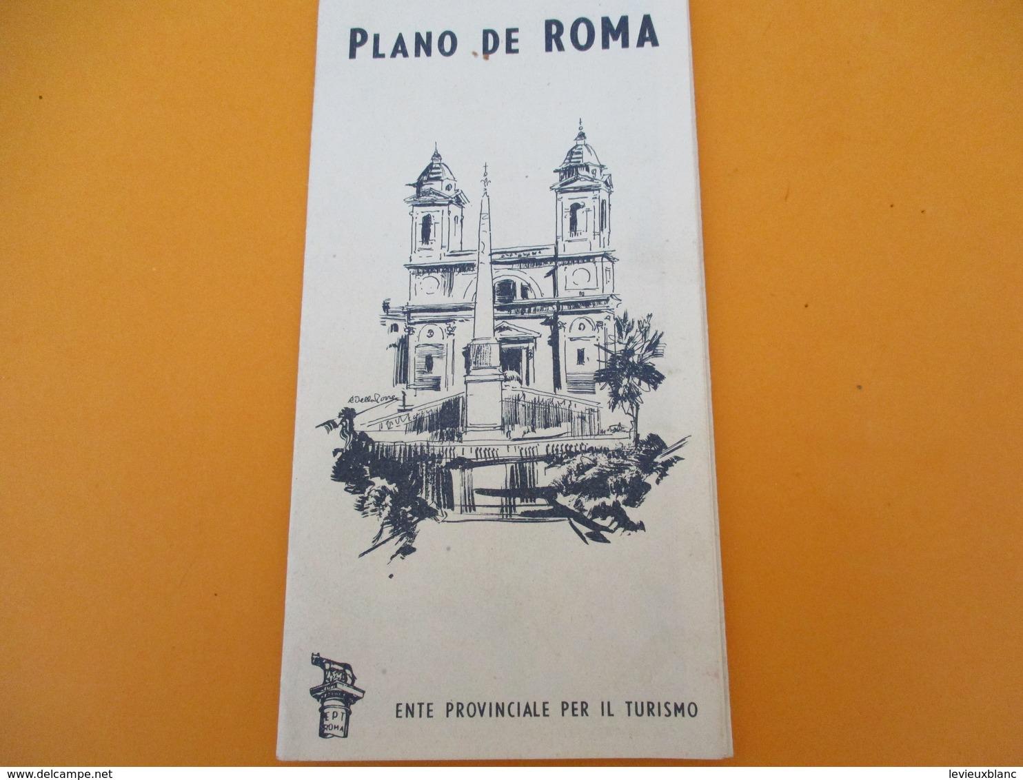 ITALIE/Plan Touristique De La Ville De ROME/ Plano De Roma/Staderini/ Vers 1930-1950        PGC203 - Geographical Maps