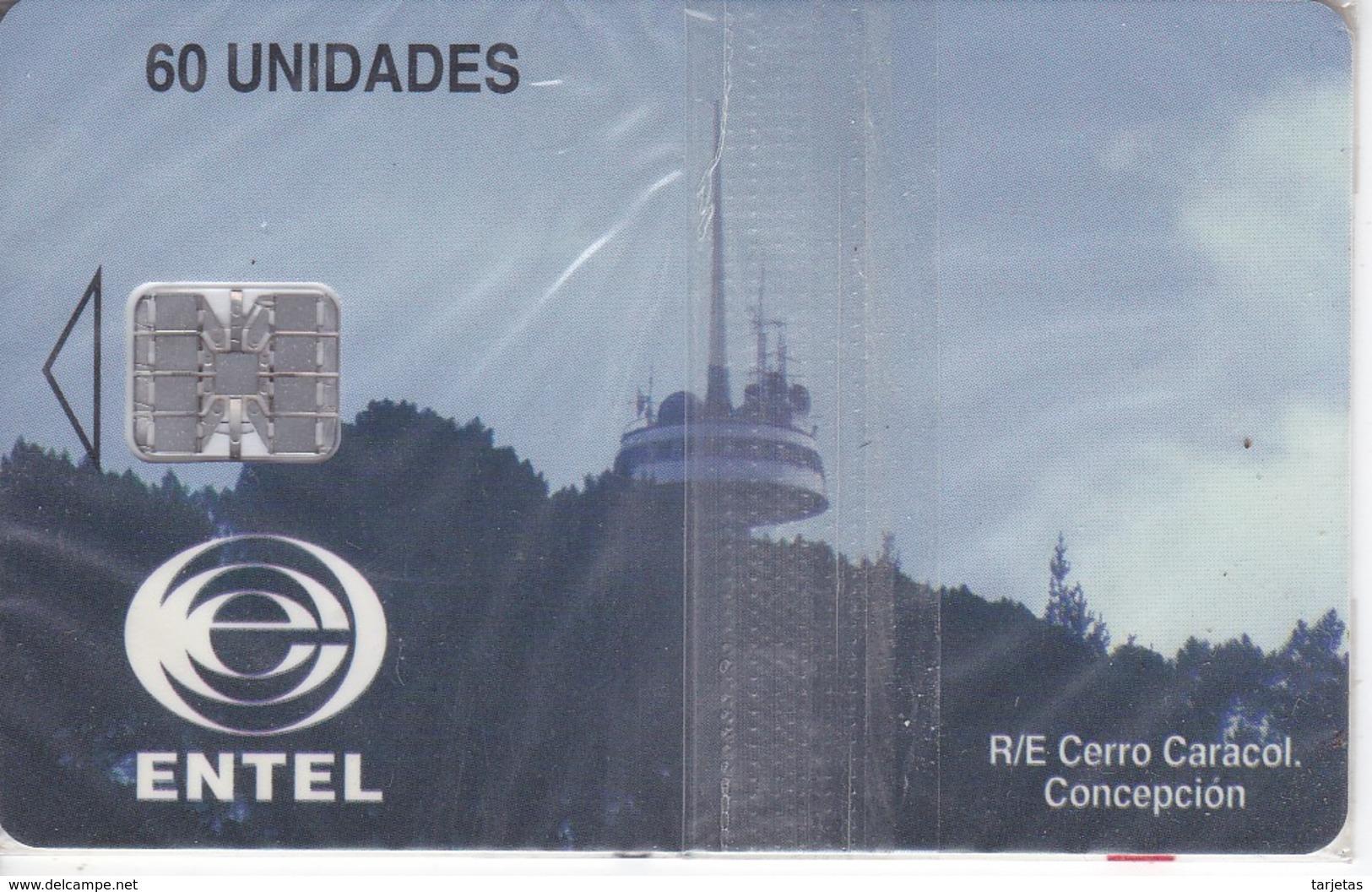TARJETA DE CHILE DE UNA ANTENA DE TELECOMUNICACIONES (SATELLITE) NUEVA-MINT (CERRO CARACOL) - Chile