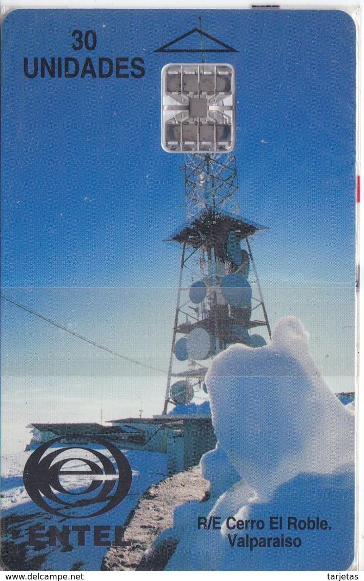 TARJETA DE CHILE DE UNA ANTENA DE TELECOMUNICACIONES (SATELLITE) NUEVA-MINT - Chile