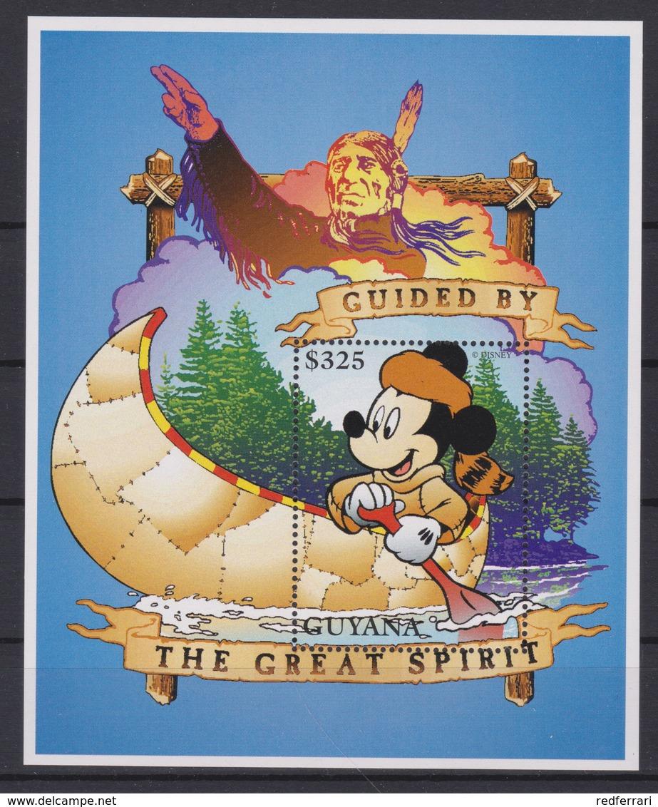 2334  WALT DISNEY - GUYANA ( Mickey Outdoors / Mickey And Canoe ) - Disney