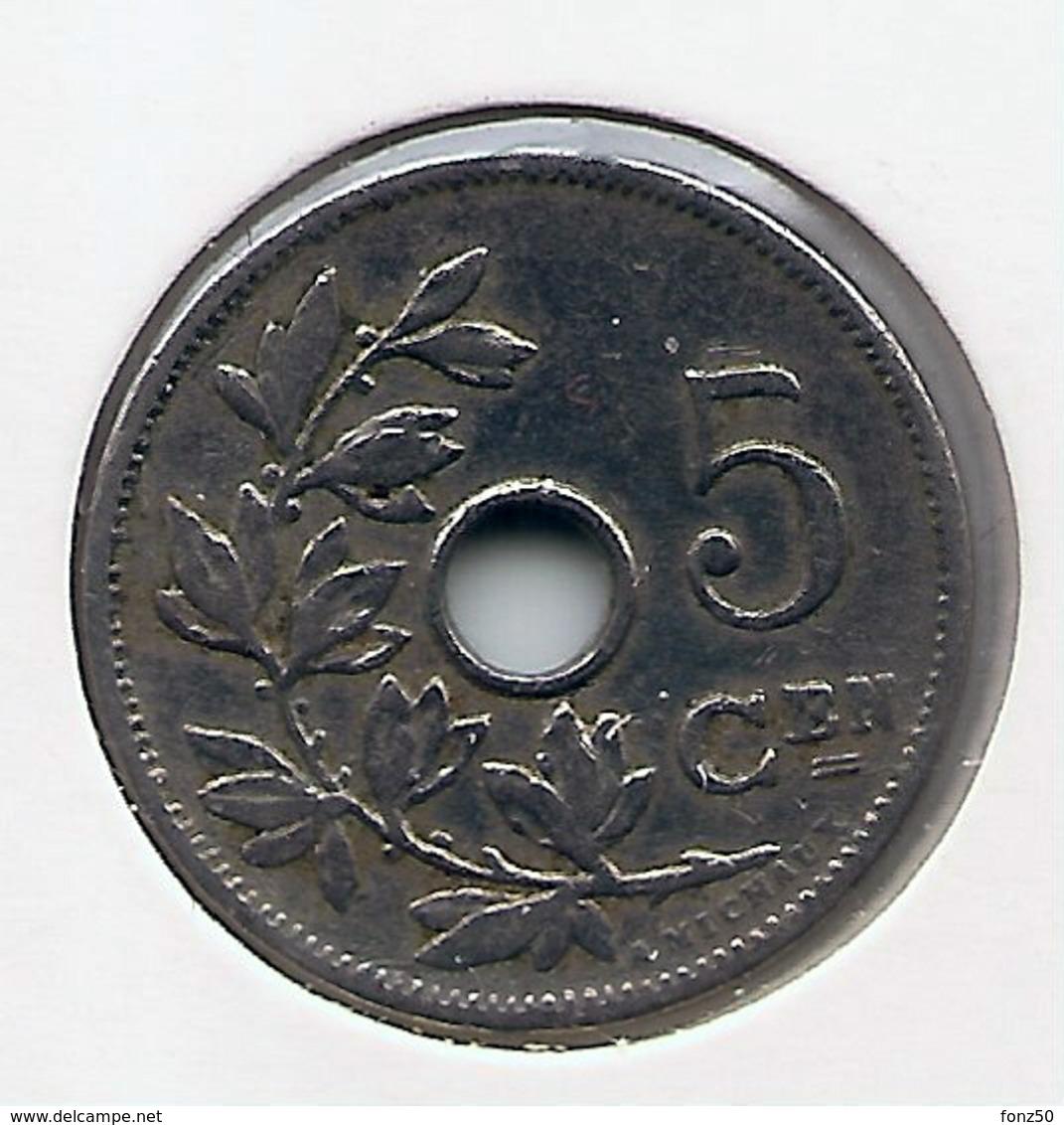 LEOPOLD II  * 5 Cent 1905 Vlaams * Nr 9781 - 1865-1909: Leopold II