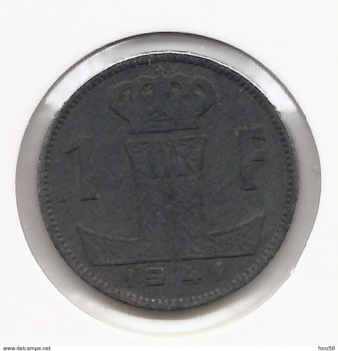 LEOPOLD III * 1 Frank 1941 Frans/vlaams * Nr 9791 - 1934-1945: Leopold III