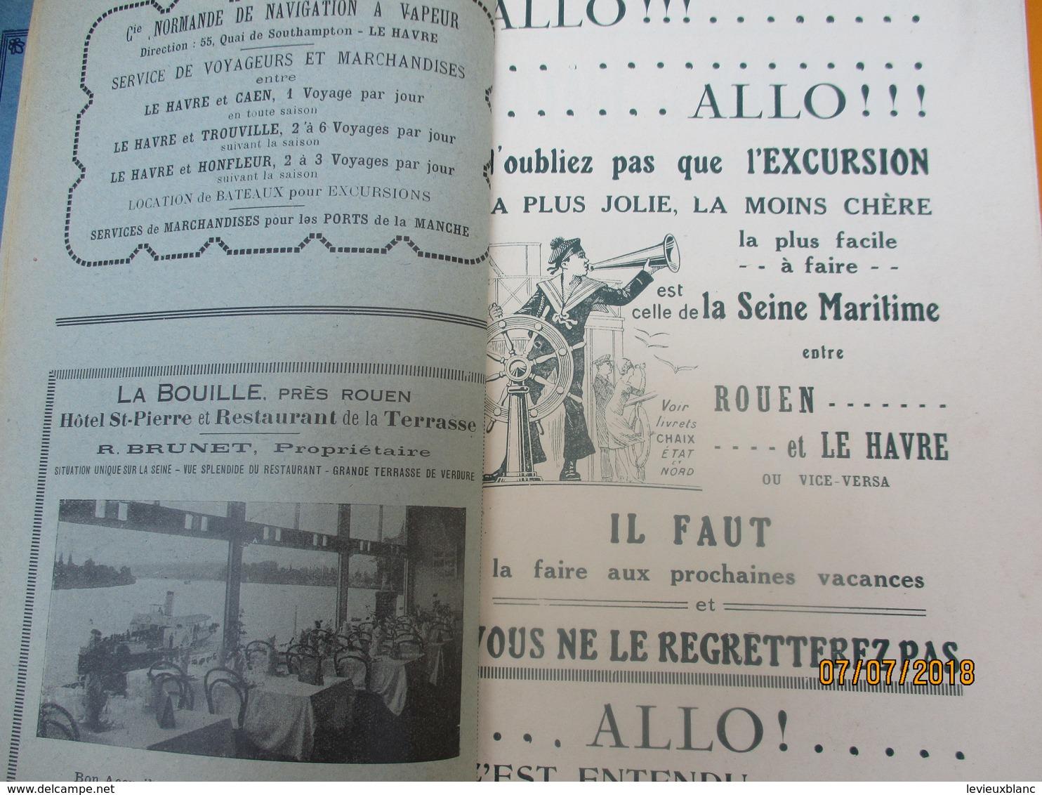 Guide Complet Du Voyage En Bateau De ROUEN Au HAVRE Par La Seine Maritime/Cie Rouennaise De Navigation/ 1931     PGC210 - Mapas Geográficas
