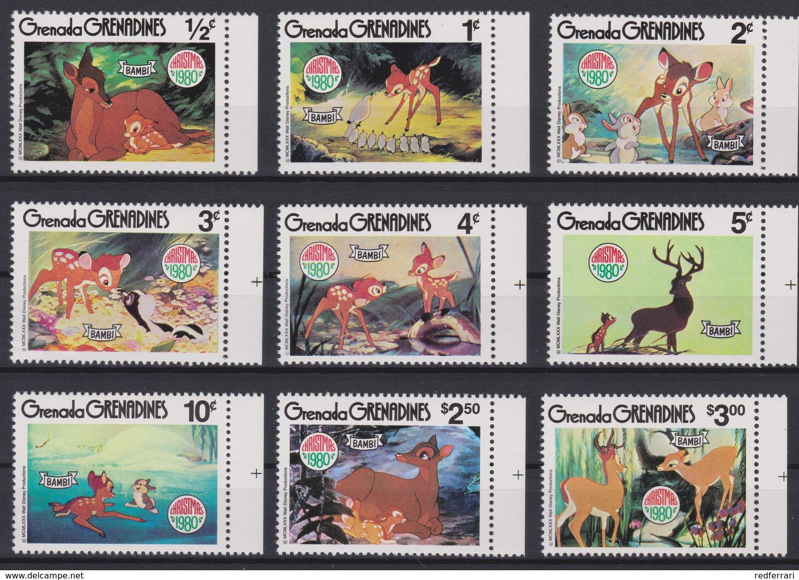 2261 WALT DISNEY - Grenada Grenadines ( Christmas 1980 ) BAMBI - Illustrations With The Characters In Walt Disney . - Disney