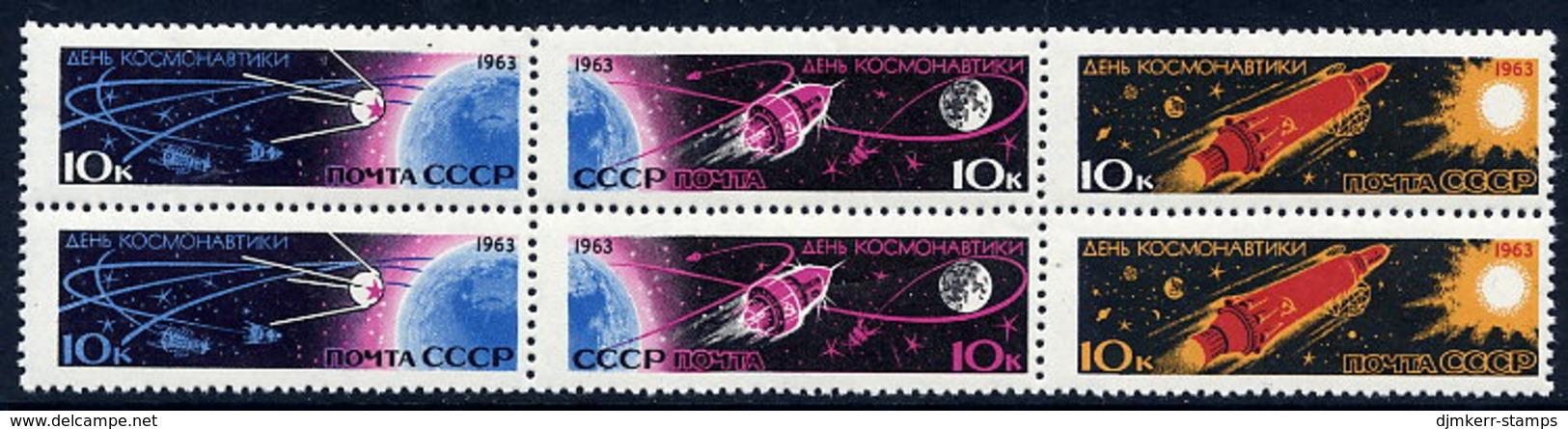 SOVIET UNION 1963 Cosmonauts Day Block MNH / **  Michel 2747-52 - 1923-1991 USSR
