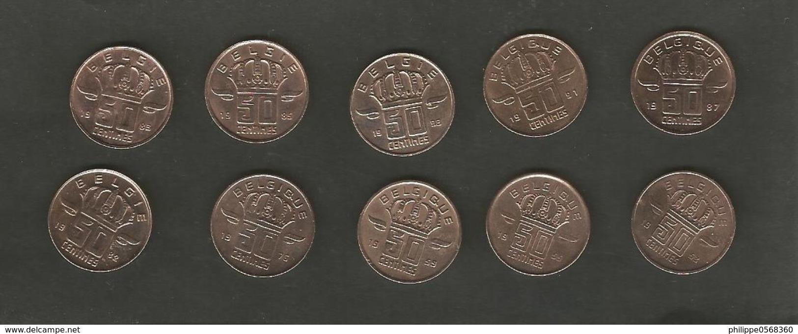 Lot De Monnaies Belgique 50 Centimes - Belgique