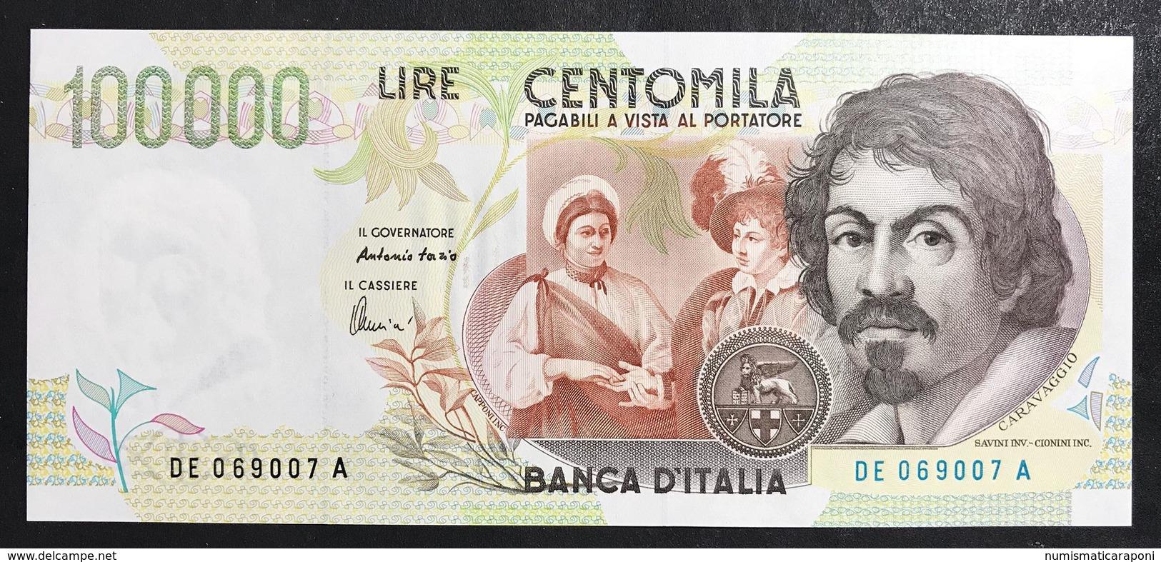 100000 Lire CARAVAGGIO 2° TIPO SERIE E 1998 Fds LOTTO 1476 - [ 2] 1946-… : Repubblica