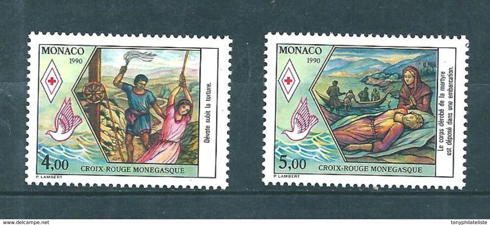 Monaco Timbres De 1990  Neufs** N°1720/21 Croix Rouge - Monaco