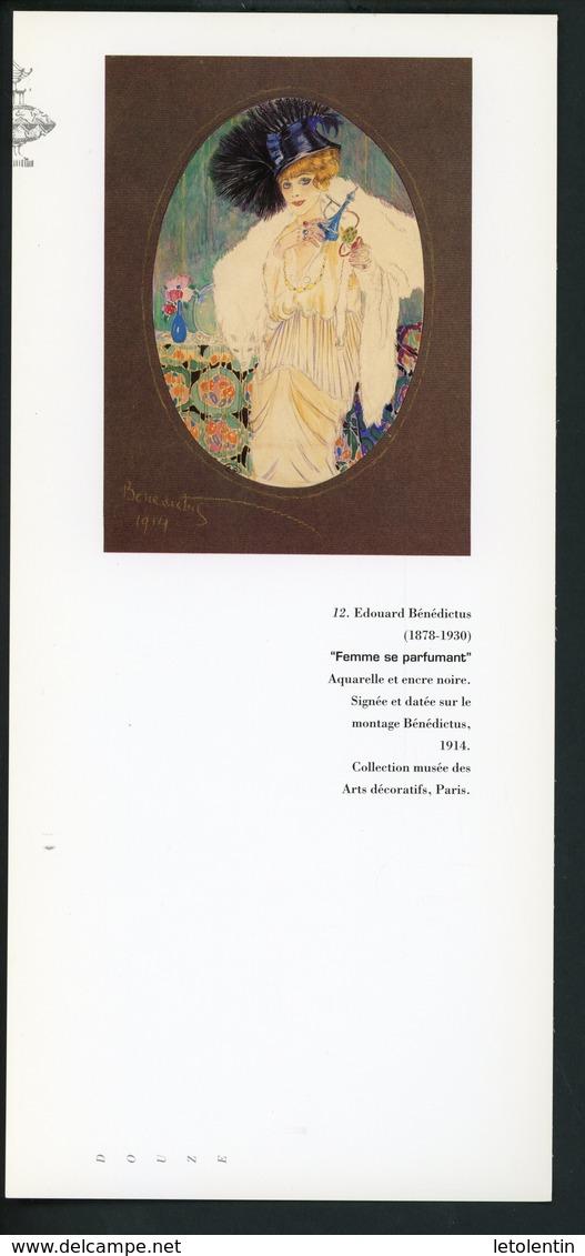 "CARTE PUB 12,5 X 27,5  - ""FEMME SE PARFUMANT"",  EDOUARD BÉNÉDICTUS - Perfume & Beauty"