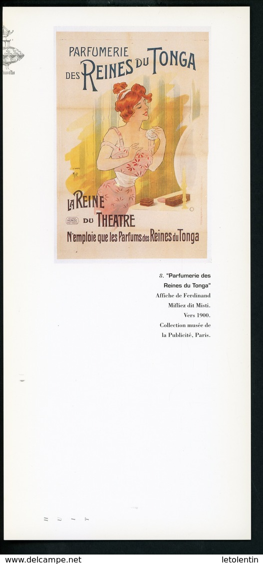 """CARTE PUB 12,5 X 27,5  - """"PARFUMERIE DES REINES DU TOGA"""", AFFICHE DE FERDINAND MIFLIEZ DIT MISTI - Perfume & Beauty"""