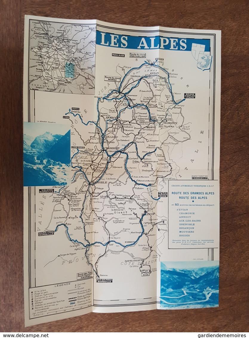 Les Alpes Illustré Par R. Auger - Ascension Du Mont Blanc, Chambéry, Annecy Saint Jean De Maurienne, Evian Menthon, SNCF - Tourism Brochures