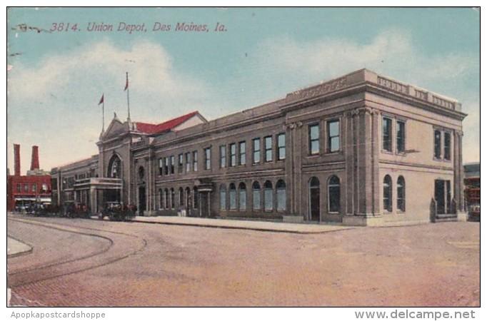 Iowa Des Moines Union Depot 1912 - Des Moines