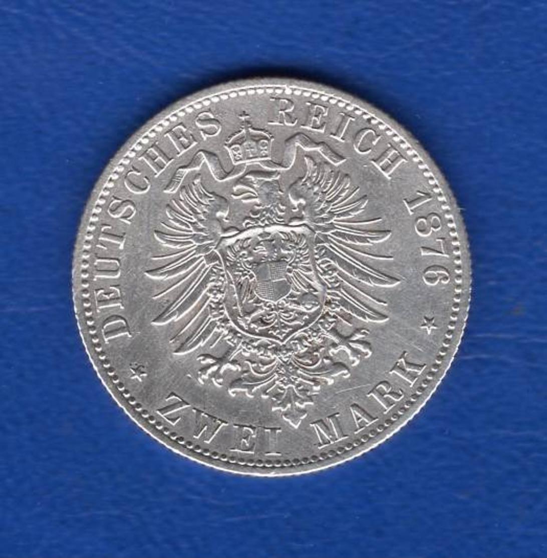 2  Mark  1876 B  Sup - [ 2] 1871-1918 : German Empire
