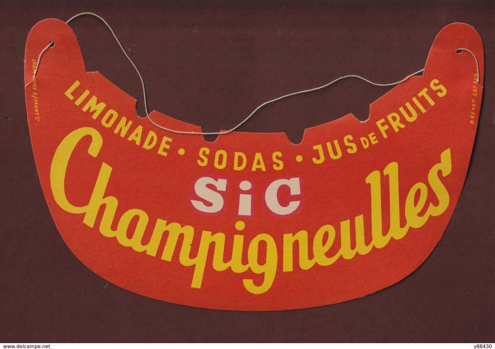 Visière Pare Soleil - Tour De France Cycliste - Année 1950/60 - CHAMPIGNEULLES - SIC - Limonade. Sodas. Jus De Fruits - Casquettes & Bobs