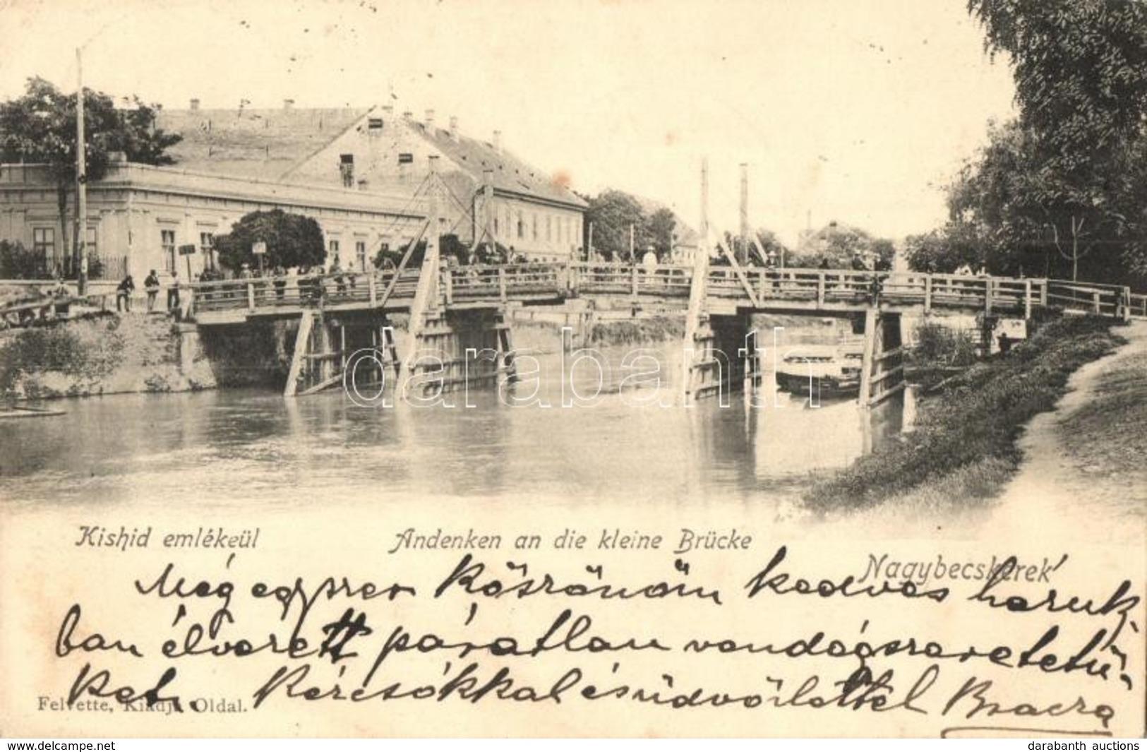Nagybecskerek, Zrenjanin, Veliki Beckerek; Kis Híd és Nagy Híd - 2 Db Régi Városképes Lap / 2 Pre-1945 Town-view Postcar - Cartes Postales