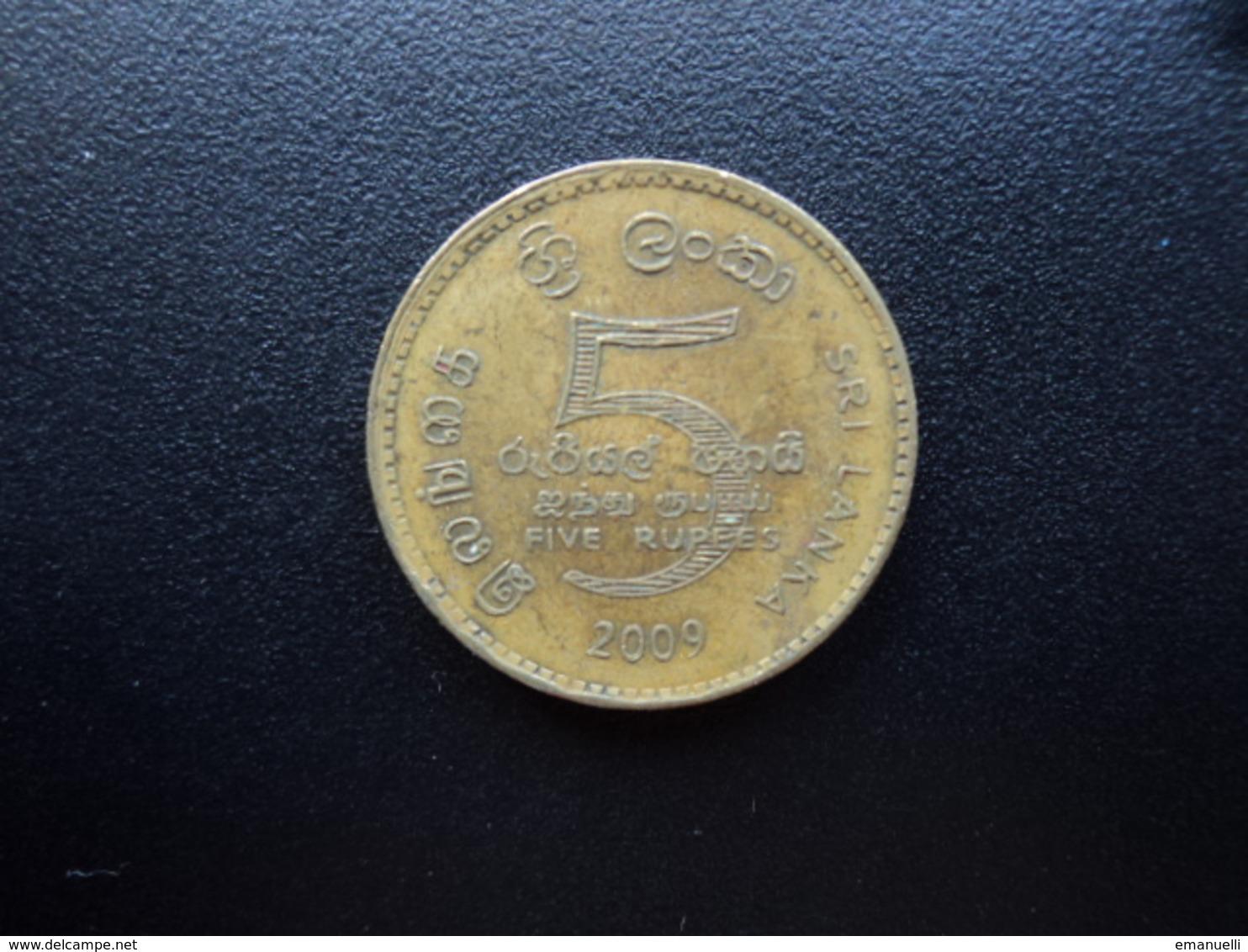 SRI LANKA : 5 RUPEES   2009   KM 148.2a    TTB - Sri Lanka