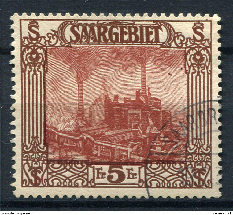 41623) SAAR # 97 Gestempelt Aus 1922, 55.- € - Gebraucht