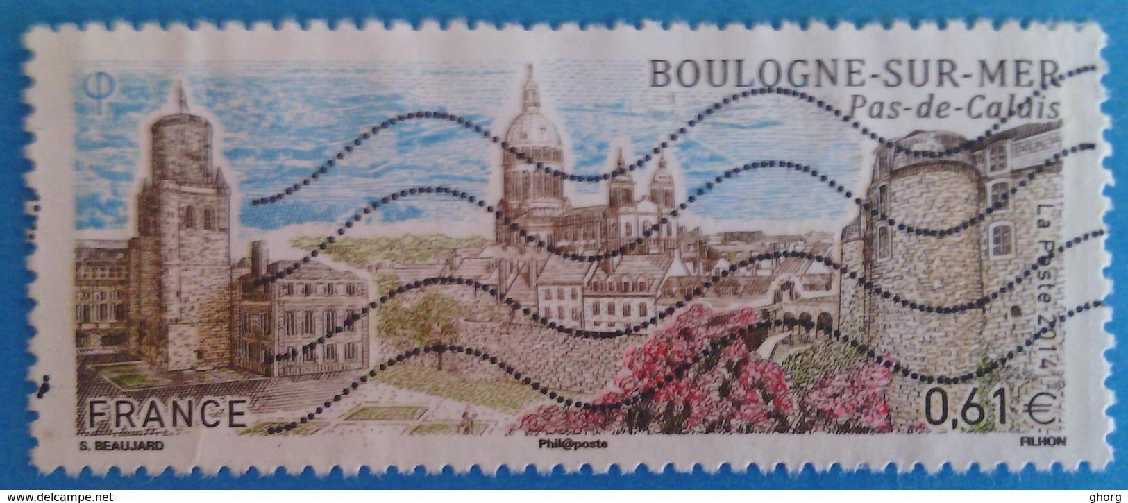 France 2014 : Série Touristique, Boulogne Dur Mer N° 4862 Oblitéré - Frankreich