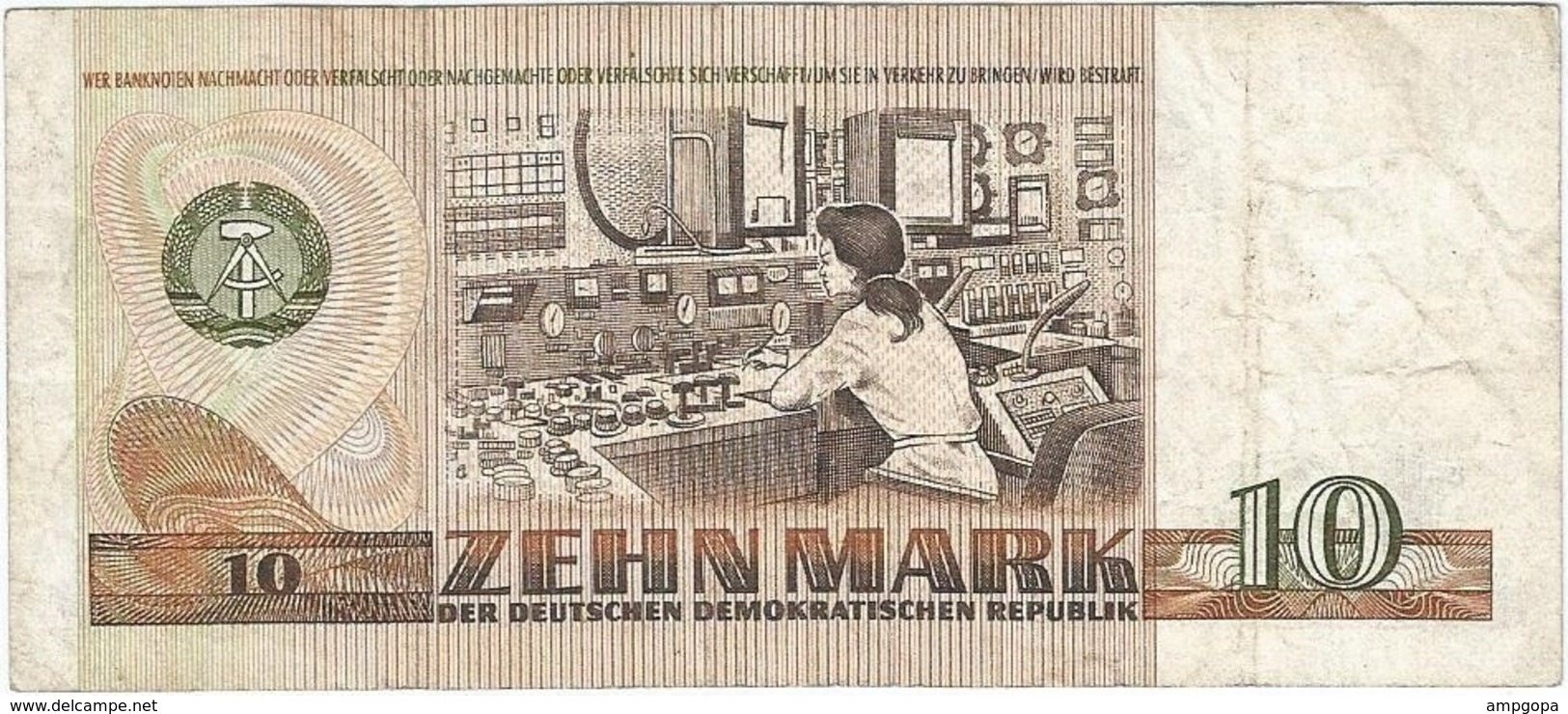 Alemania Democrática - German Democrátic 10 Mark 1971 Replacement ZN Pick 28b.r Ref 900-2 - 10 Deutsche Mark