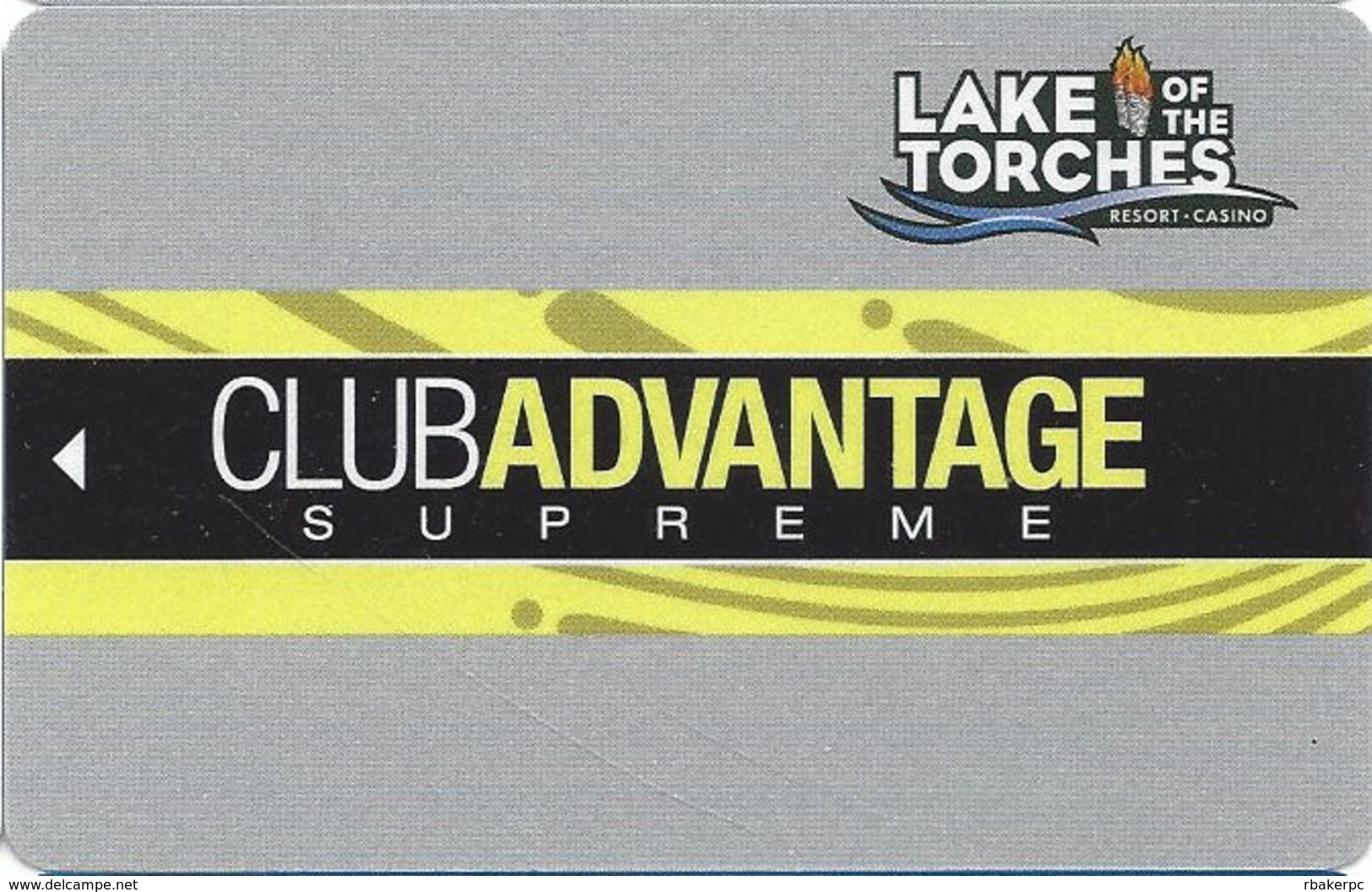 Lake Of The Torches Casino - Lac Du Flambeau, WI - BLANK Supreme Slot Card - Casino Cards