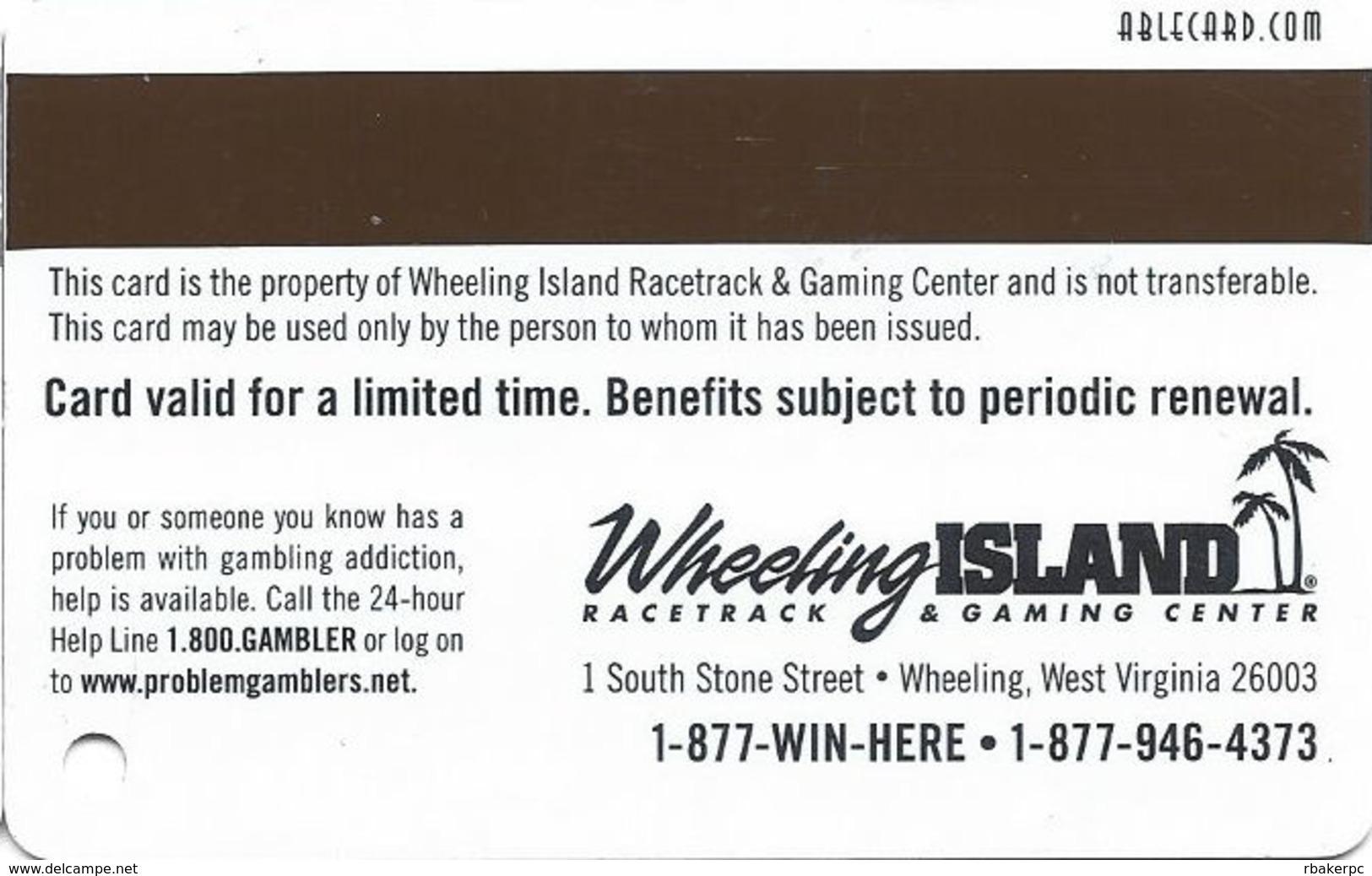 Wheeling Island Casino WV - 2005 1H Gold Slot Card - Casino Cards