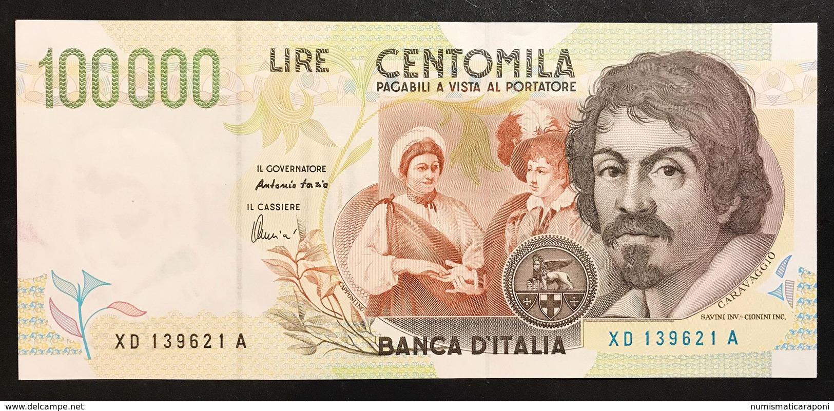 100000 Lire Caravaggio II° Tipo Serie Sostitutiva XD....A 1997 Spl/sup Lotto.1909 - [ 2] 1946-… : Repubblica