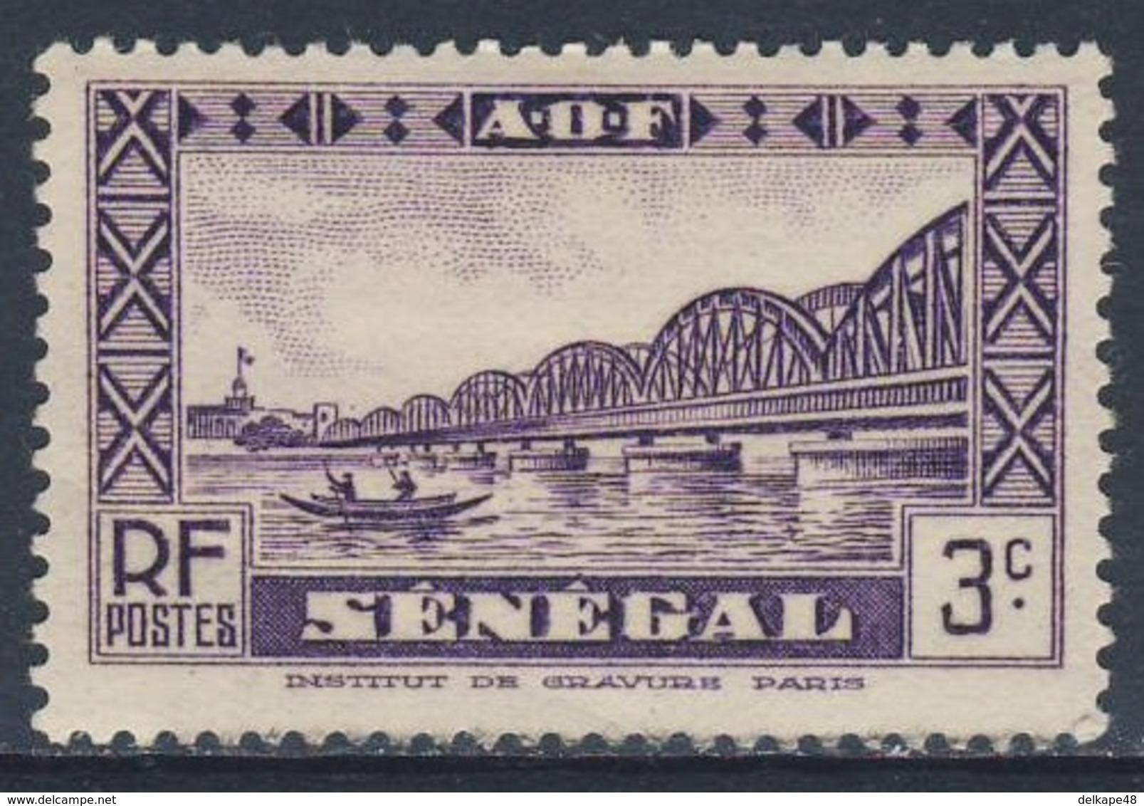 Senegal 1939 /40 Mi 120 YT 160 * MH - Faidherbe, Saint Louis Pont De Chemin De Fer / Railway Bridge / Eisenbahnbrücke - Bruggen