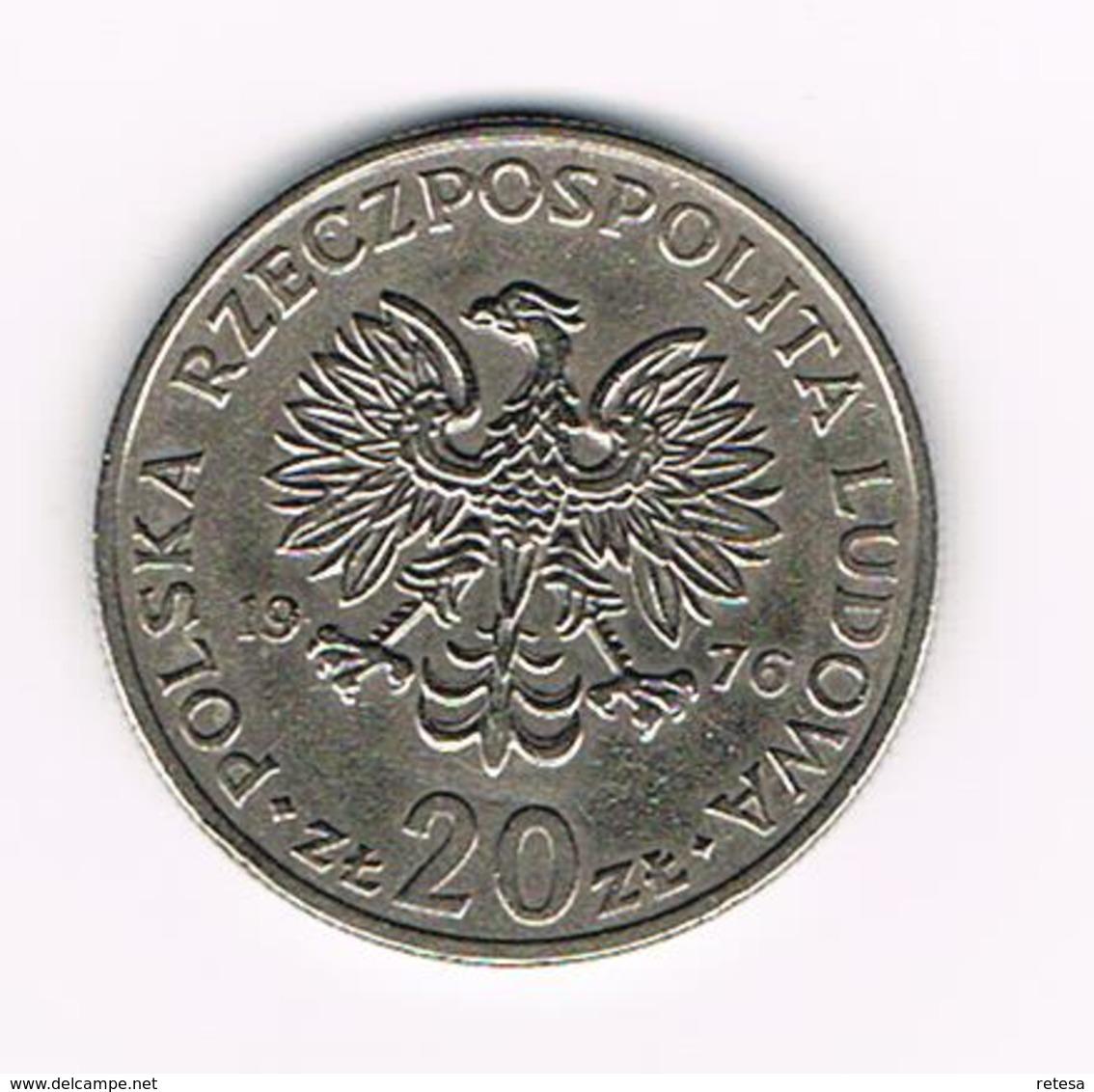 &-  POLEN  20 ZLOTYCH  MARCELI NOWOTKO  1976 - Pologne