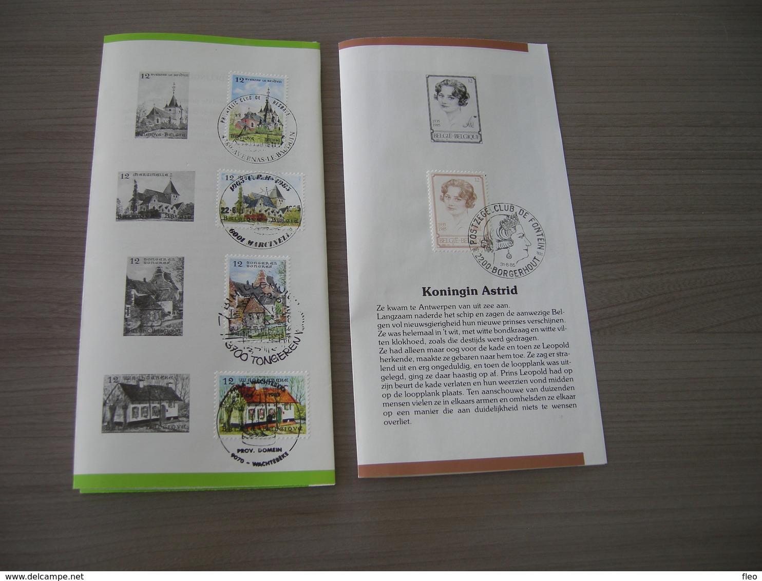 BELG.1985 2179-82 & 2183 Zegels Met Eerstedag Stempel Op 2 NL Folders - FDC