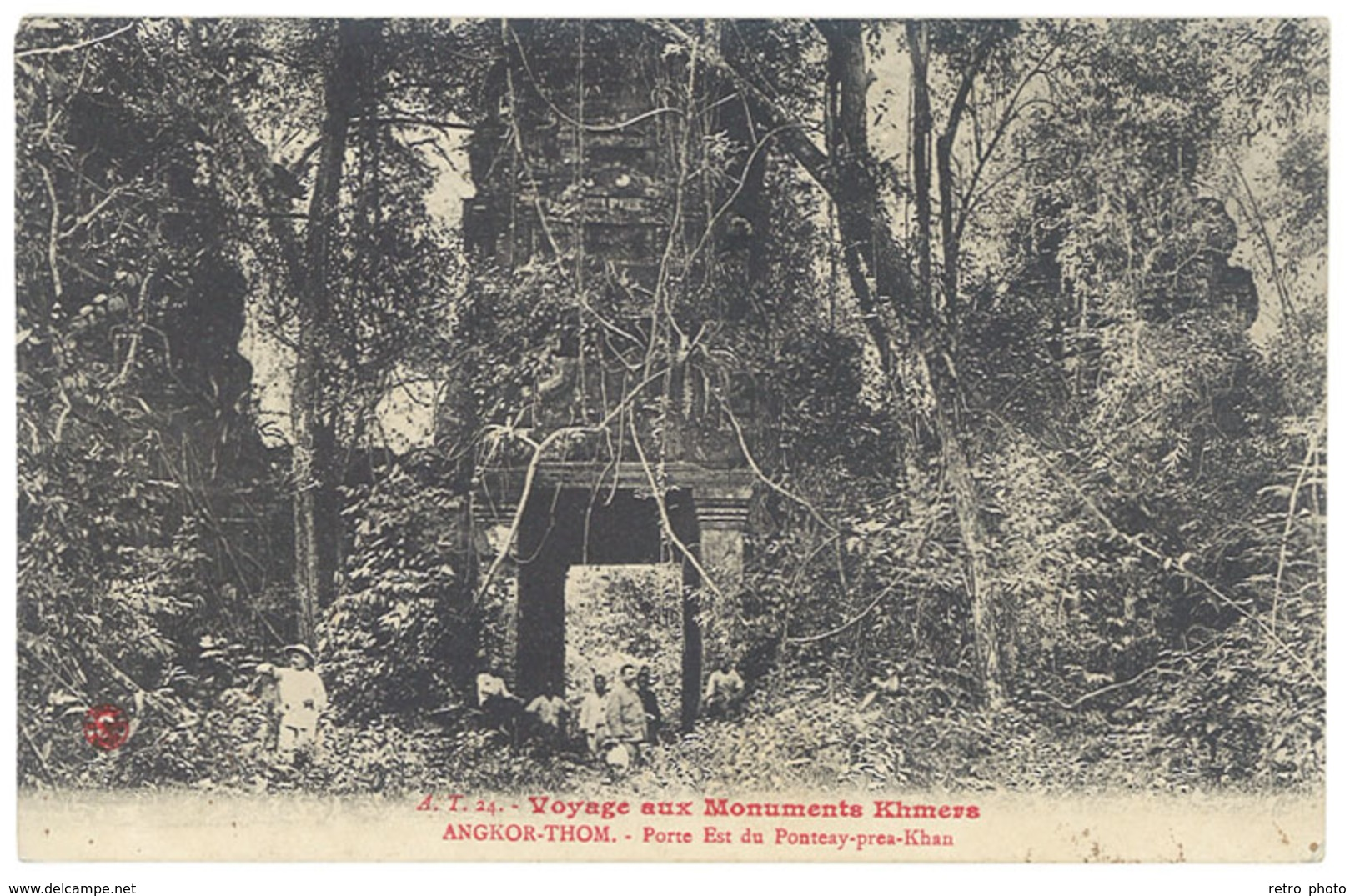 Cpa Cochinchine – Angkor Thom - Porte Est Du Ponteay Près Khan - Cambodge