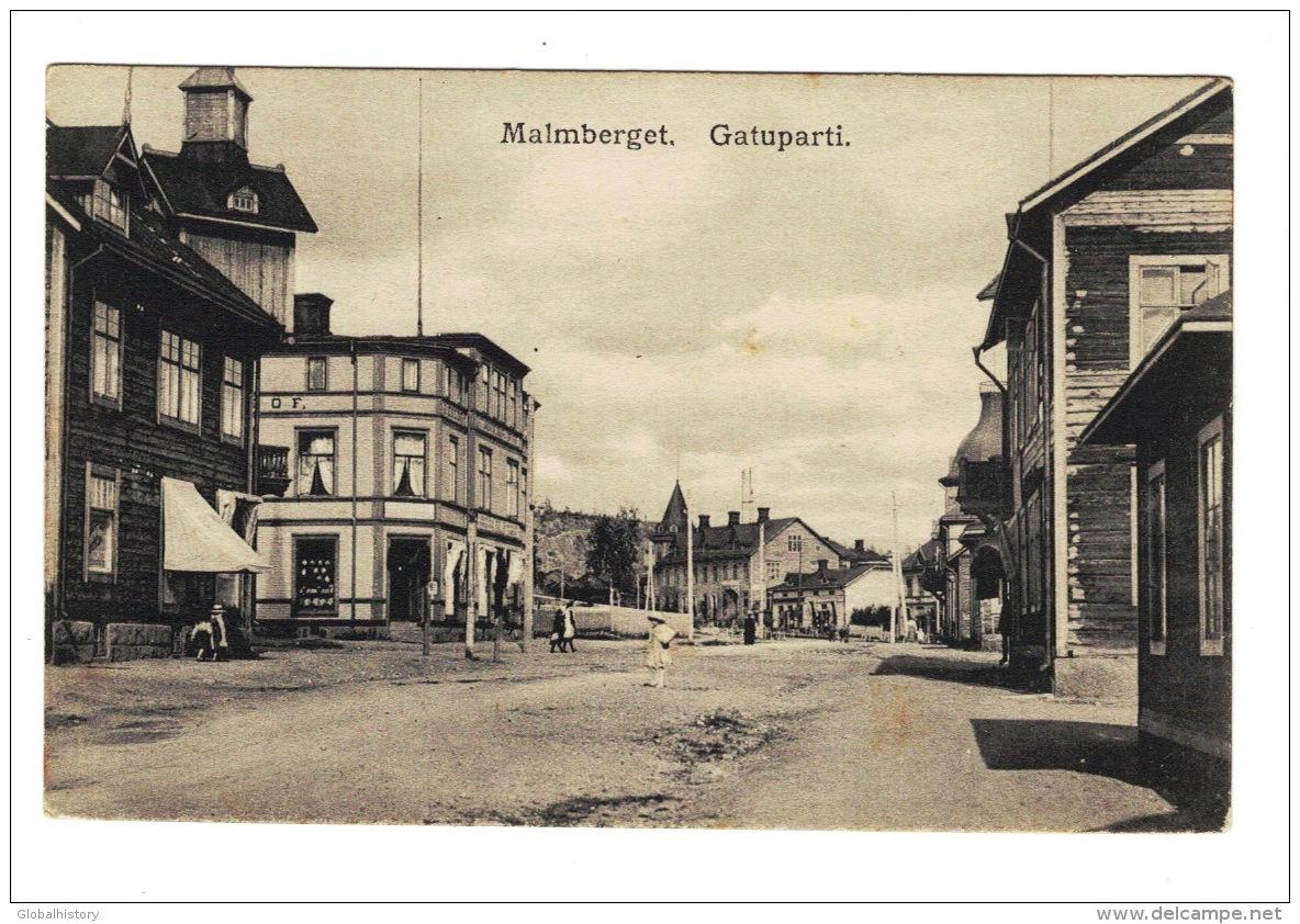 DE1218  SWEDEN  MALMBERGET GATUPARTI  POSTCARD - Svezia
