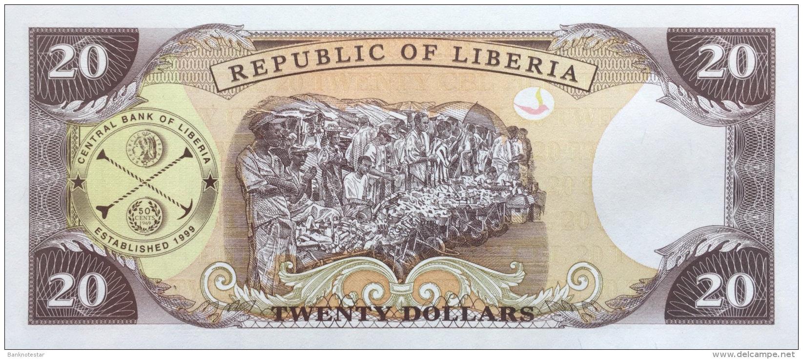 Liberia 20 Dollars, P-23a (1999) UNC - Liberia
