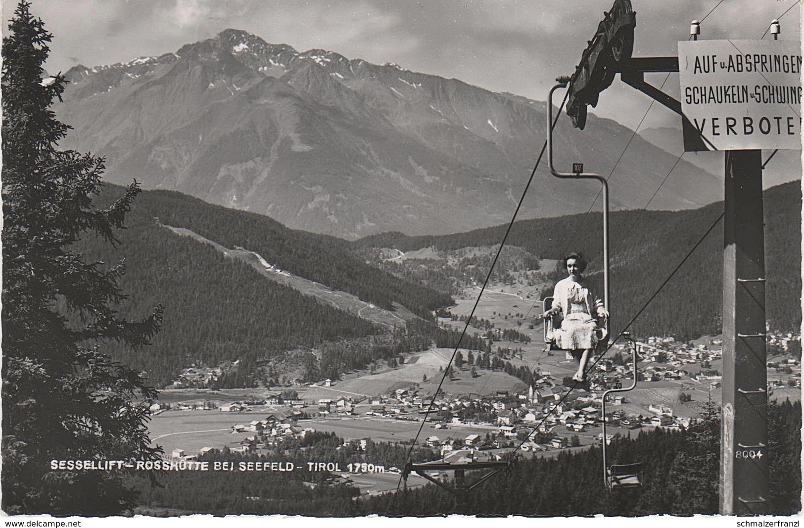 AK Seefeld Sessellift Roßhütte Innsbruck Scharnitz Leutasch Zirl Reith Mittenwald Auland Telfs Tirol Österreich Austria - Seefeld