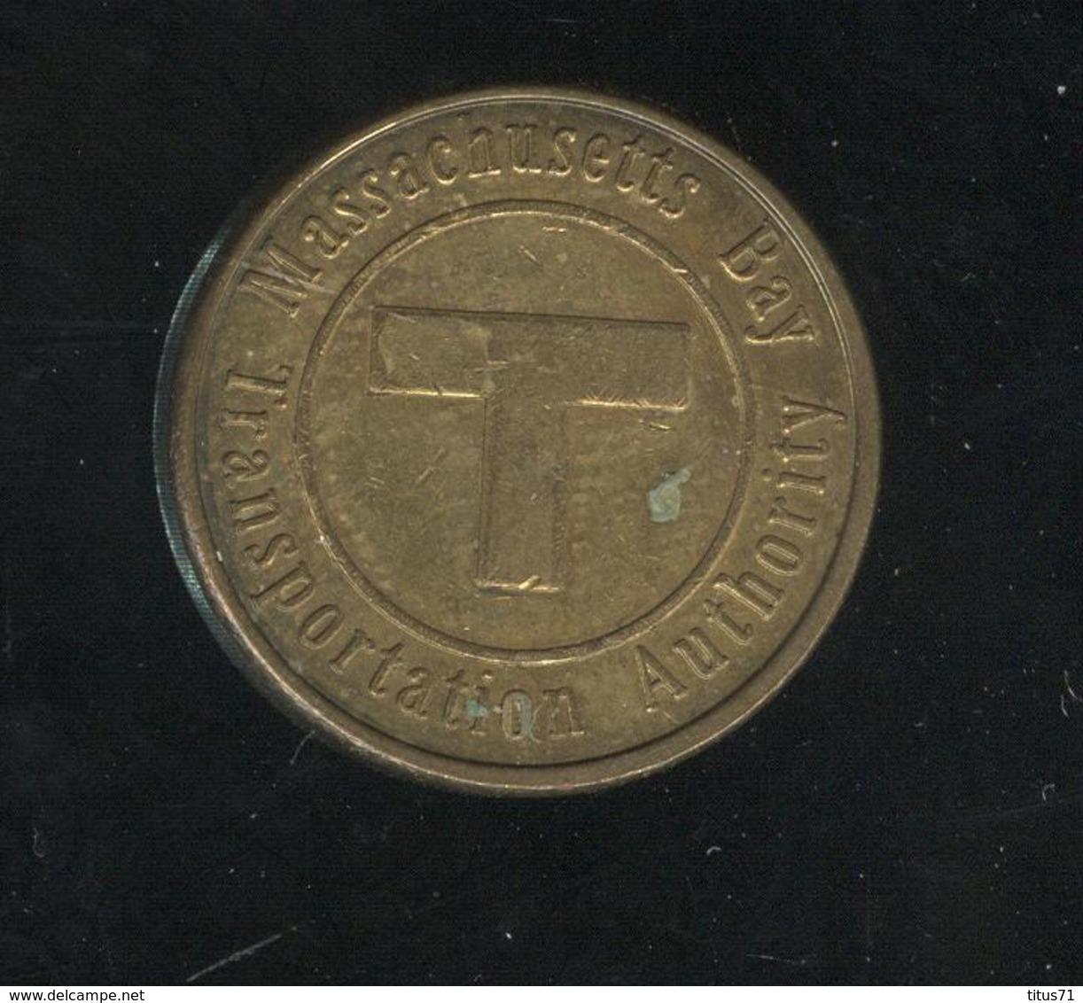 Jeton Massachussets Bay Transportation Autority - Sail Boston 1992 - Jetons & Médailles