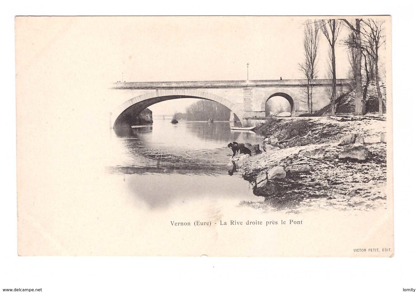 27 Vernon La Rive Droite Près Le Pont - Vernon