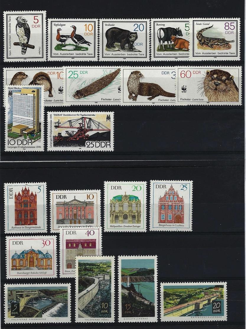 DDR - 5 Verschiedene Komplettsätze Postfrisch (29) - Sammlungen