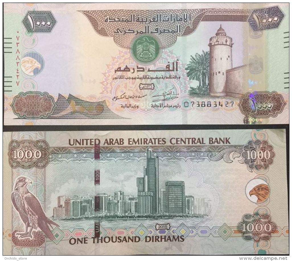 UNITED ARAB EMIRATES UAE NEW 1000 Dirhams, Very High Value, AED, 2018 UNC Banknote - Emirats Arabes Unis