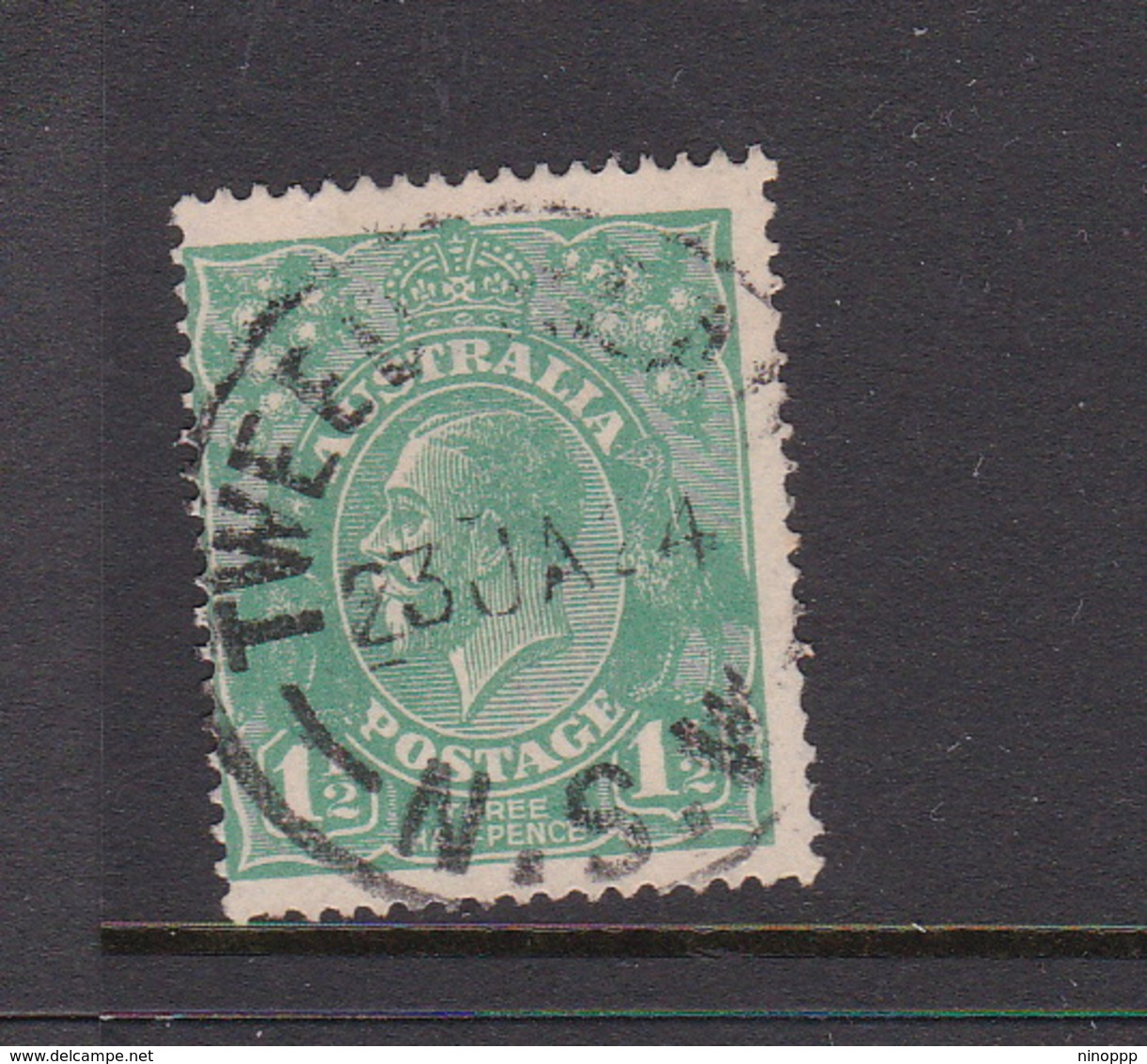 Australia SG 61 1923 King George V,Three Half Penny Green,Single Watermark, Used - 1913-36 George V: Heads