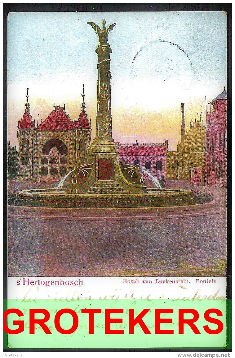 's-HERTOGENBOSCH Bosch Van Drakenstein Fontein 1906 Met Grootrondstempel NIEUWPOORT - 's-Hertogenbosch