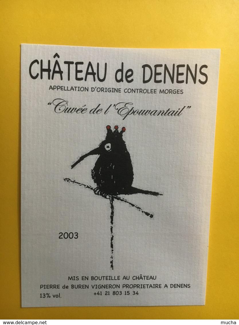 8547 - Château De Denens Cuvée De L'Epouvantail 2003Suisse - Autres