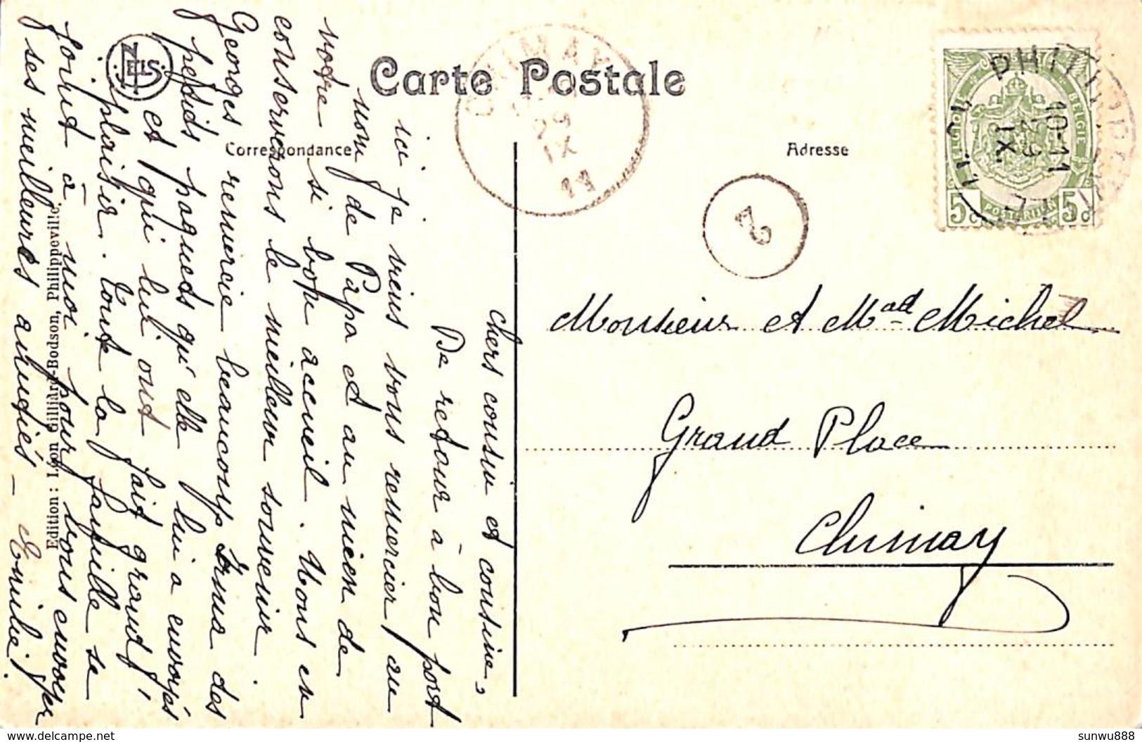 Philippeville - Nouvelle Gare (animée, Train, 1911, Edit. Léon Gillard-Bodson) - Philippeville