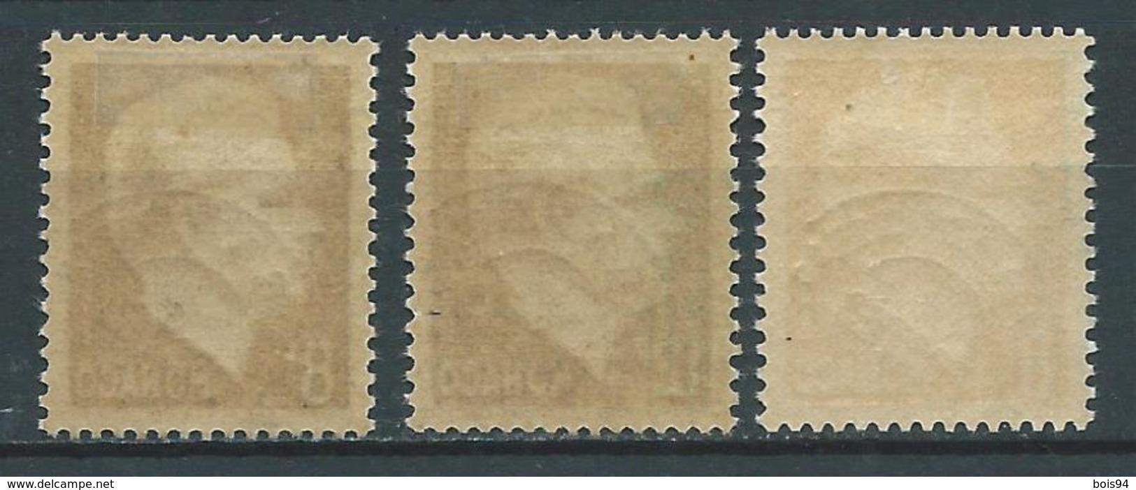 MONACO 1943/51 . Préoblitérés N°s 8 , 9 Et 10 . Neufs * (MH) - Préoblitérés