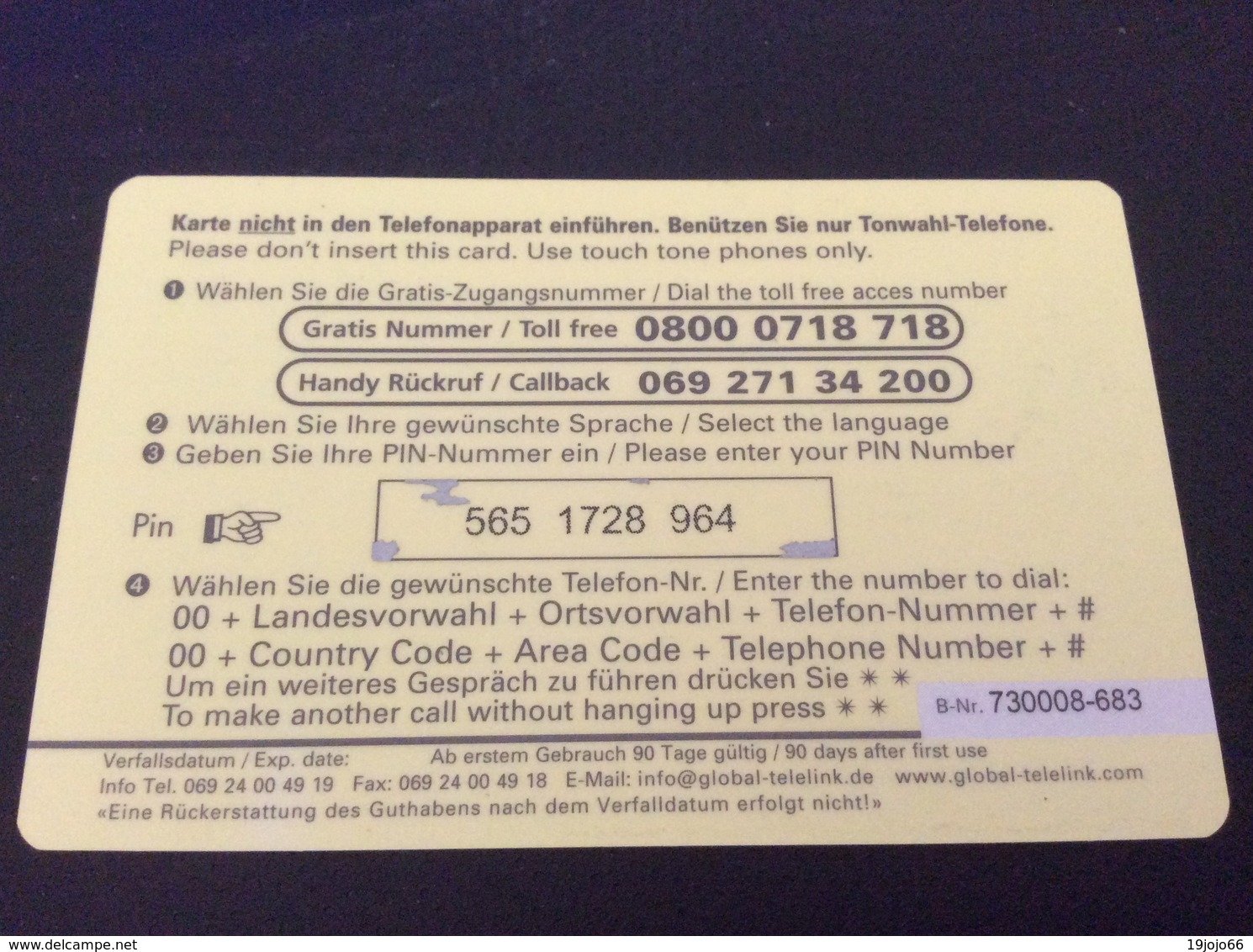 30 DM - Global Line -  Little Printed  -   Used Condition - Deutschland