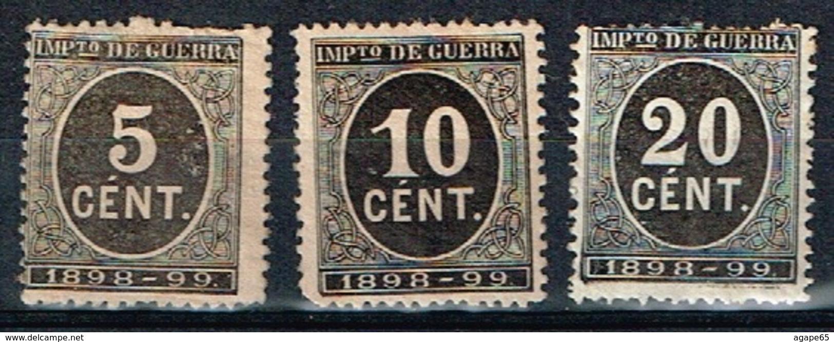 Impuesto De Guerra 1898-99, 5,10 Y 20 Cts - Impuestos De Guerra