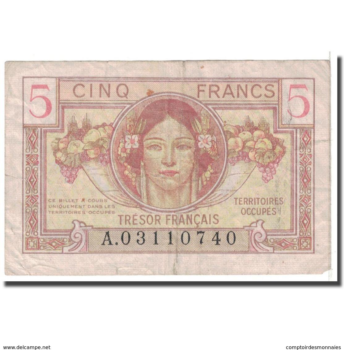 France, 5 Francs, 1947, TB, Fayette:VF29.1, KM:M6a - Tesoro