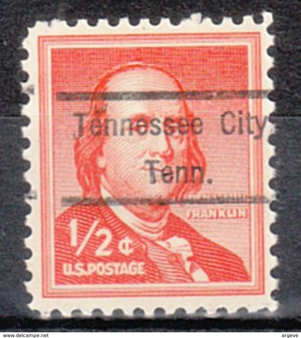 USA Precancel Vorausentwertung Preo, Locals Tennessee, Tennessee City 809 - Vereinigte Staaten