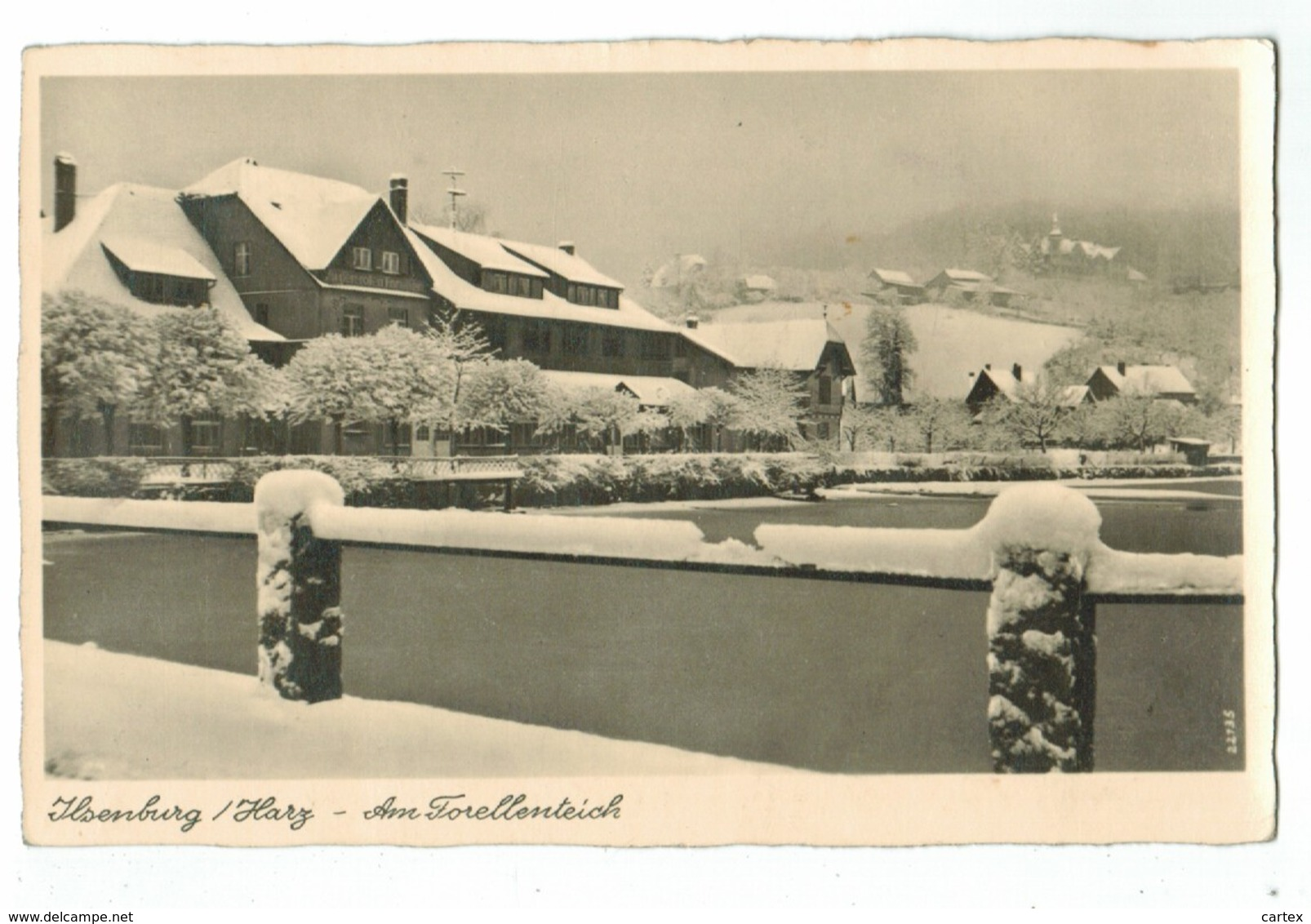 22090    Cpa  ILSENBURG / Harz  - Am Forellenteich (im Winter ) - Ilsenburg