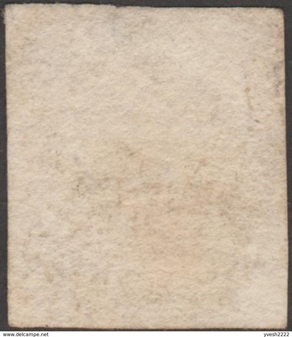 Belgique 1851 COB 6Aa. 10 C. Brun Foncé. Médaillon P156. Chenée - 1851-1857 Médaillons (6/8)