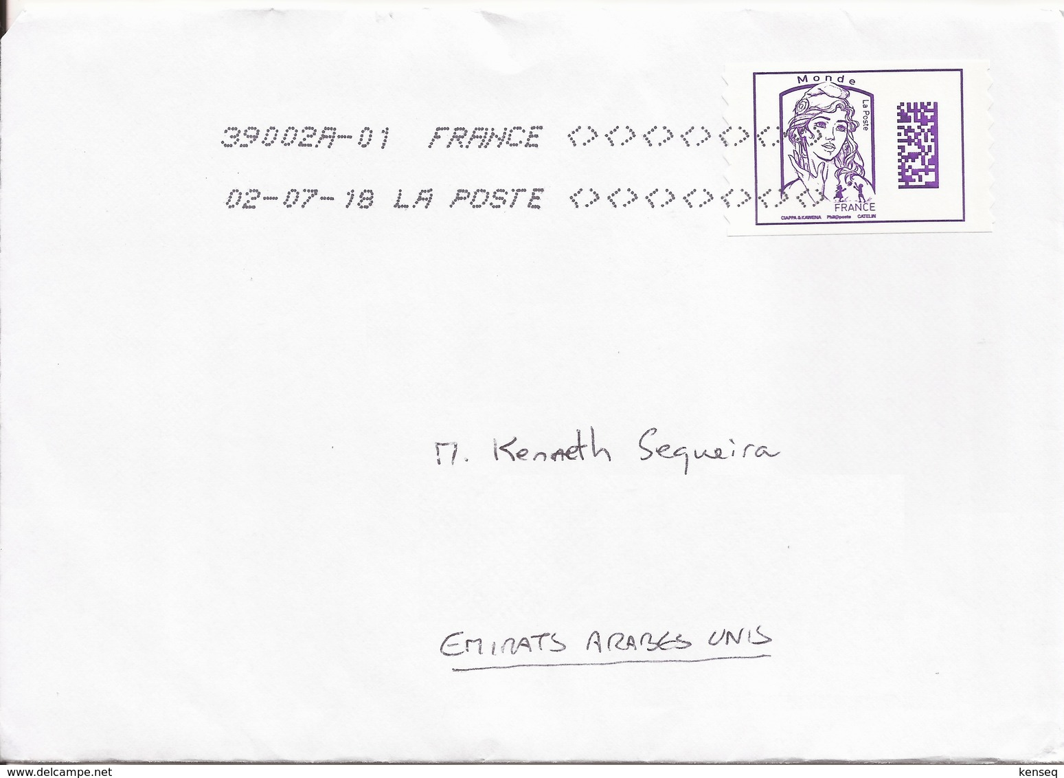 France 2018 - Used Cover - Definitive - Frankrijk